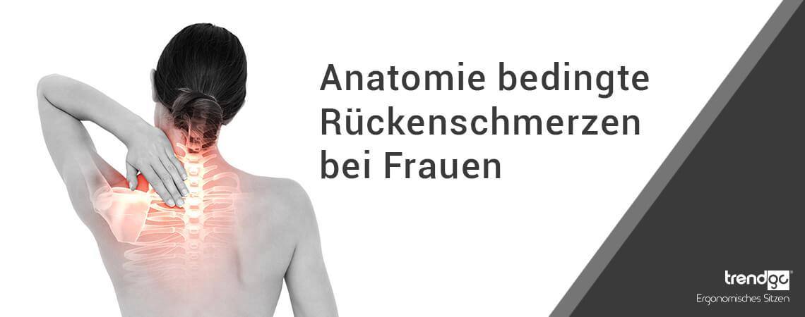 Rückenschmerzen bei Frauen