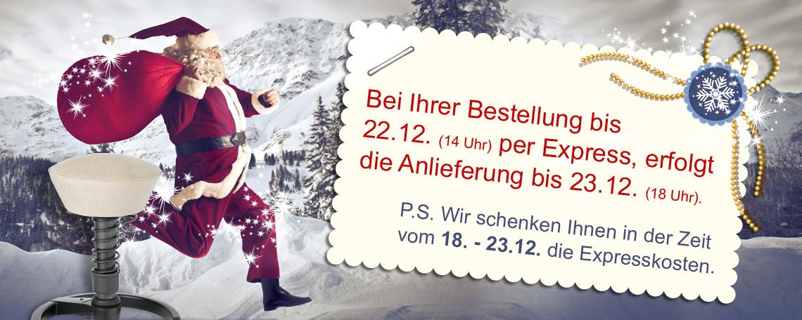 Express Lieferung Weihnachten